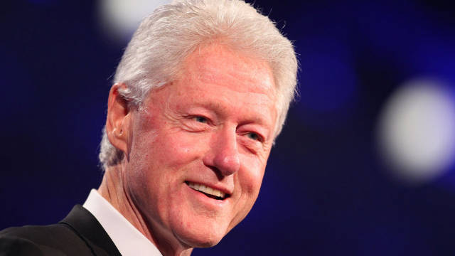 Former president Bill Clinton's current goal is to avoid food that could damage his blood vessels.