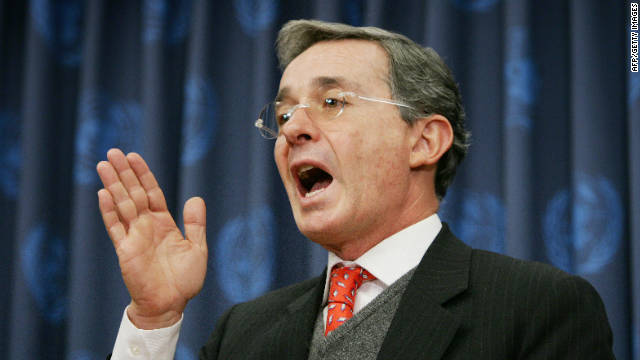 Former Colombian President Alvaro Uribe Velez  said the next generation held the key to his country's future.