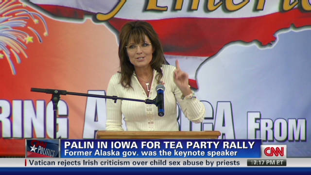Palin speaks at rally