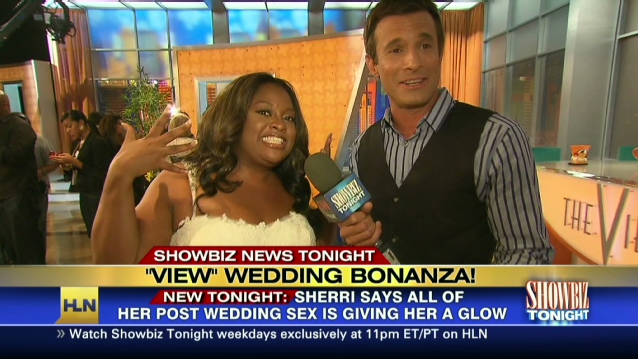 Wedding sex is giving 'View' host a glow