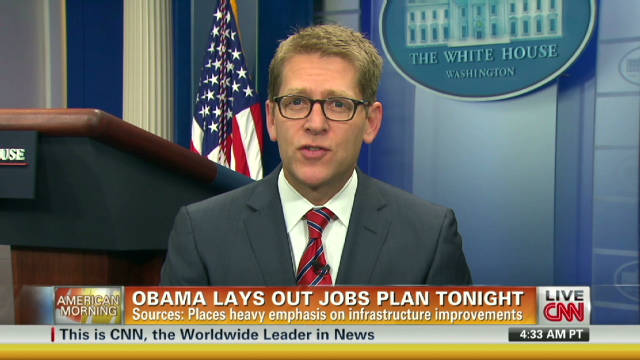 Carney:Obama's 'American Jobs Act' ready