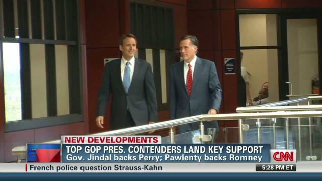 Pawlenty endorsing Romney