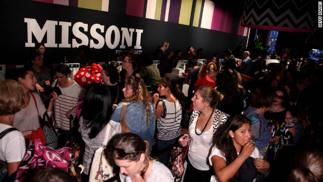 Shoppers preview Target's Missoni line last week at a pop-up store in New York.