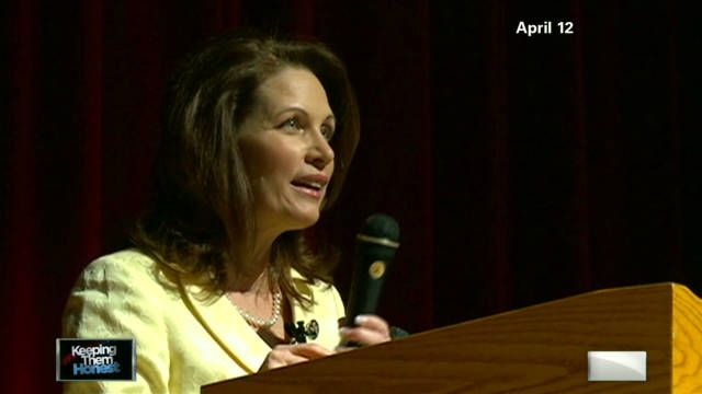 Keeping them honest: Bachmann's remarks