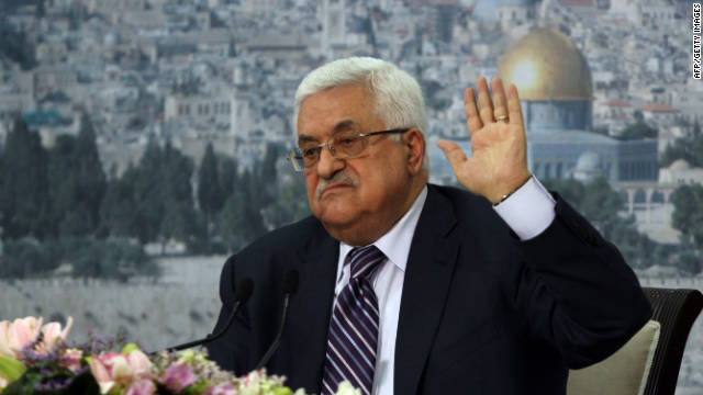 Palestinian Authority President Mahmud Abbas delivers a speech in which he said Palestinians are going to Security Council with UN membership bid, on September 16, 2011 in the West Bank city of Ramallah.