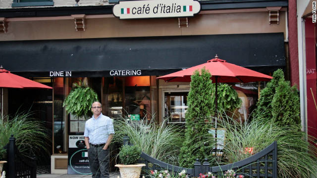 Bob Orsa in front of his restaurant.