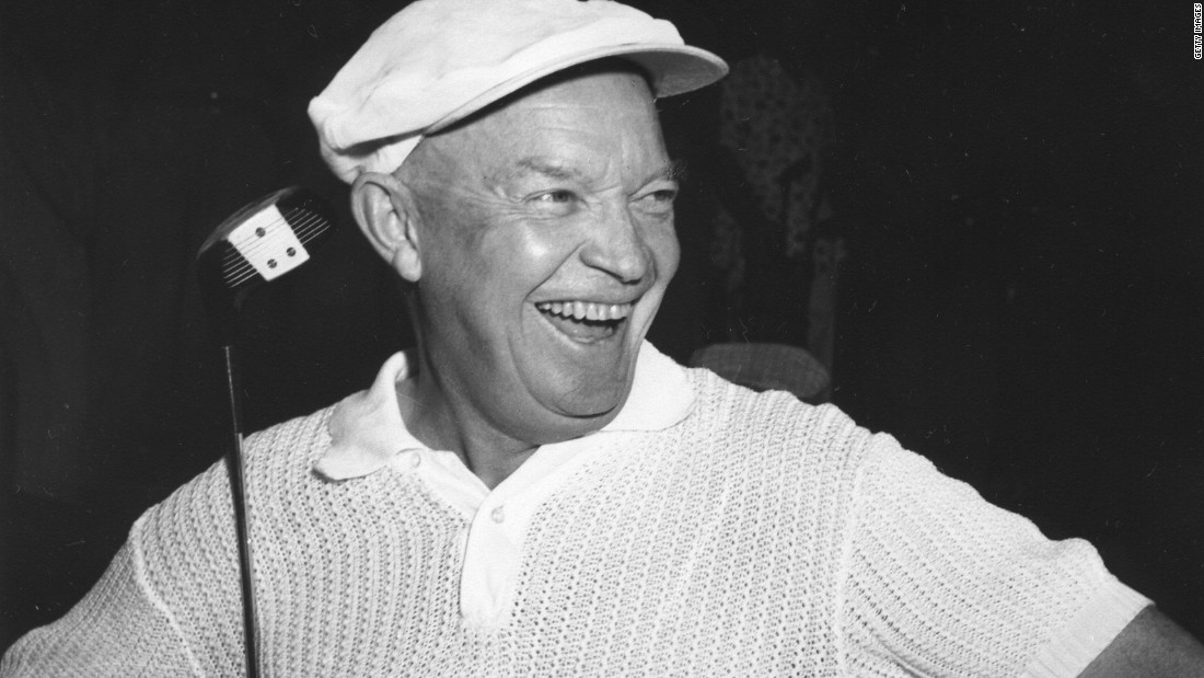 "Dwight Eisenhower, the 34th president, spent much of his time <a href=""http://millercenter.org/president/biography/eisenhower-impact-and-legacy"" target=""_blank"">fishing and playing golf</a>."