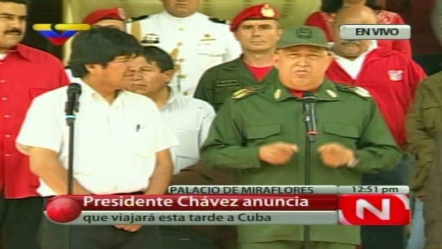 Chavez heads to Cuba for chemo