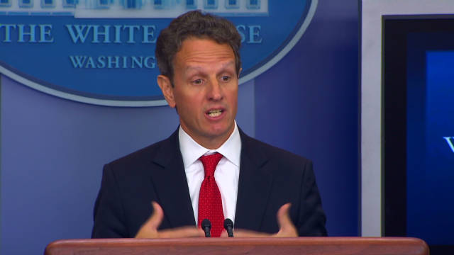 Treasury Secretary Timothy Geithner warned against economic sanctions passed by U.S. senate