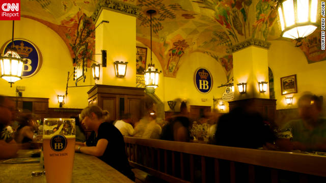 Beer gardens are popular destinations for visitors to Munich, Germany, located in the heart of Bavaria.