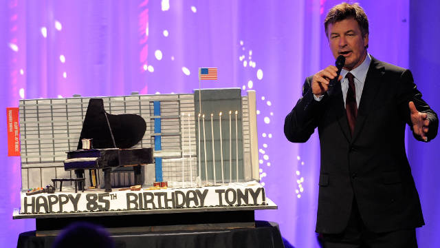 Alec Baldwin says he agreed to host Tony Bennett's 85th birthday gala a year ago.