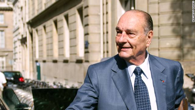 Jacques Chirac, a former mayor of Paris and prime minister of France, served as the country's president from 1995 until 2007.