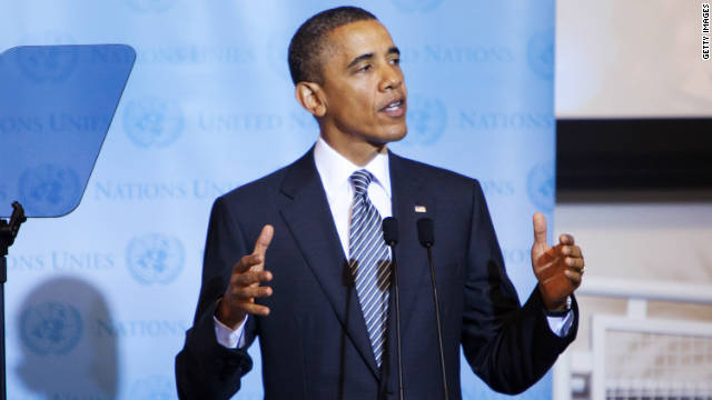 President Obama speaks during a Libya Contact Group meeting Tuesday at the United Nations in New York.