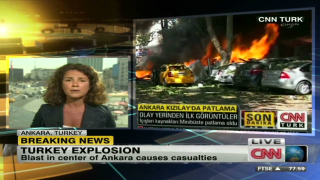 Explosion rips through Turkish capital