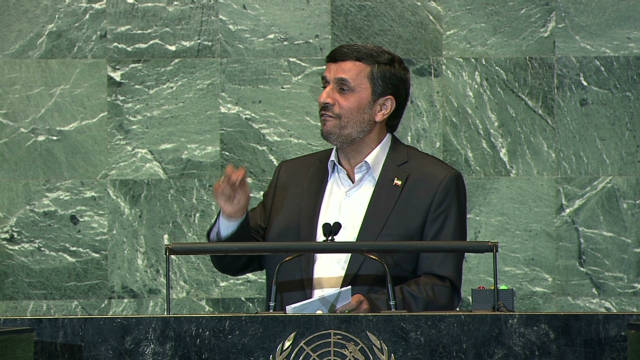September: Ahmadinejad's U.N. speech