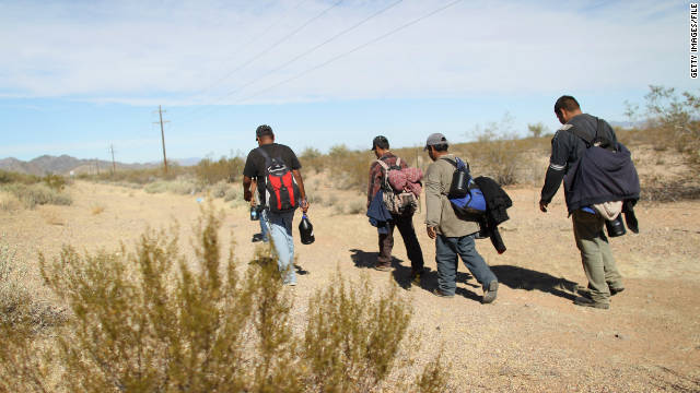 People attempting to cross the Arizona border from Mexico report being mistreated by U.S. Border Patrol agents, a humanitarian group says.
