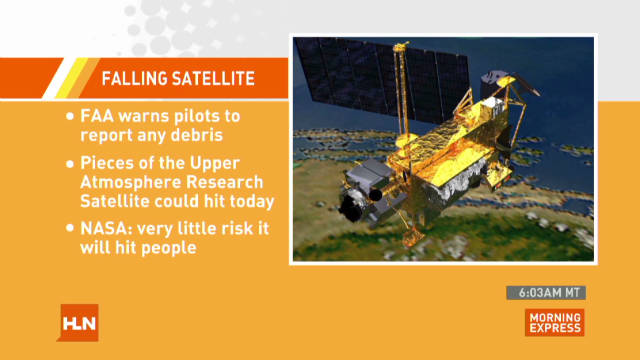 FAA: Pilots watch for falling satellite