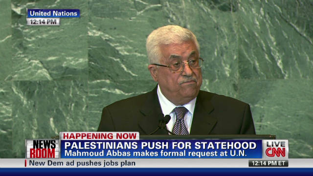 Abbas asks for Palestinian statehood