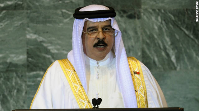 Bahrain's King Hamad bin Isa Al Khalifa addresses the U.N. General Assembly in New York on Thursday.