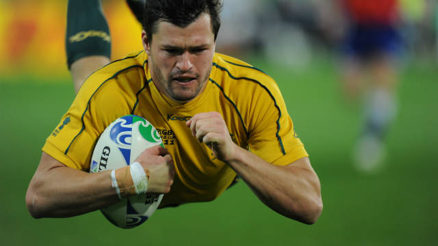 Australia wing Adam Ashley-Cooper is now the joint-highest try scorer at the tournament with four.
