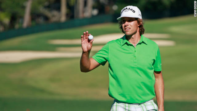 Australia's Aaron Baddeley moved into a share of the Tour Championship lead with a brilliant 64