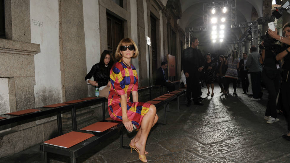 Editor-in-chief of Vogue America Anna Wintour attends the Missoni Spring/Summer 2012 fashion show as part Milan Womenswear Fashion Week on September 25, 2011 in Milan, Italy.
