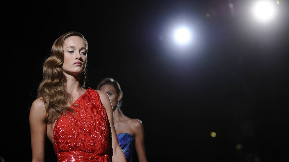 Models display creations from the Salvatore Ferragamo Spring-Summer 2012 collection.