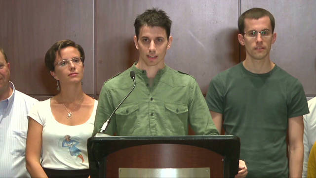 Freed hikers speak out in New York