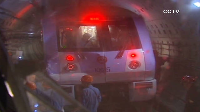 Subway trains collide in Shanghai