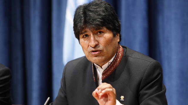 Bolivian President Evo Morales, shown here in an undated photo, said he is expelling USAID from his country.