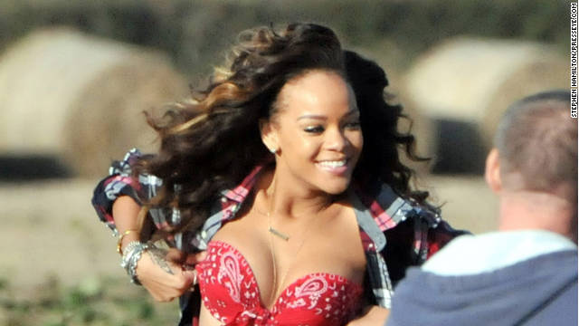 An Irish farmer was not pleased with a scantily-clad Rihanna shooting on his property.