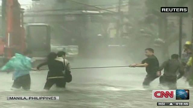 Typhoon Nesat hits Philippines
