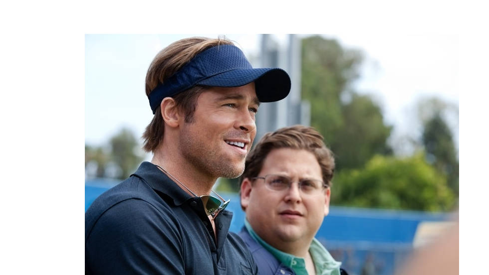 """Moneyball,"" directed by Bennett Miller, stars Brad Pitt as Oakland As general manager Billy Beane and Jonah Hill as Beane's number-crunching righthand man."