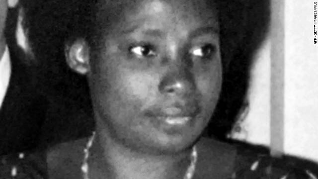 Former Rwandan first lady Agathe Habyarimana, pictured in 1977, faces a warrant on genocide charges.