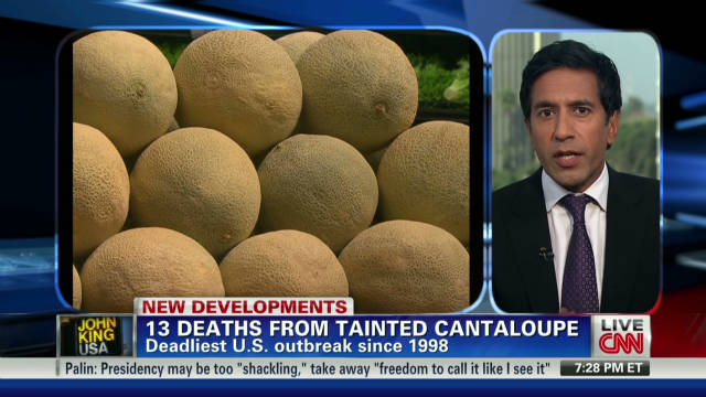 13 cantaloupe related deaths