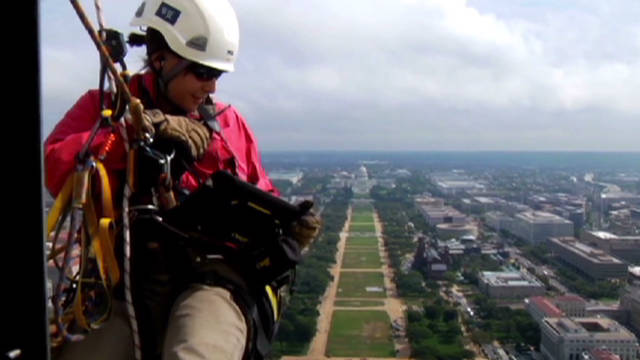 First-person view: Washington Monument