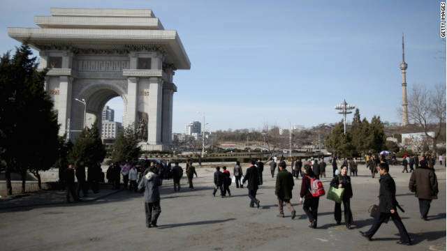 "North Korea's capital Pyongyang, like Paris, has an ""Arch of Triumph."""