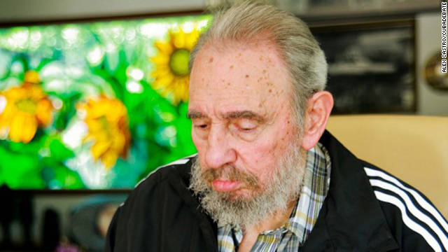 Fidel Castro votes for the new head of the Communist Party from his home on April 18, 2011.