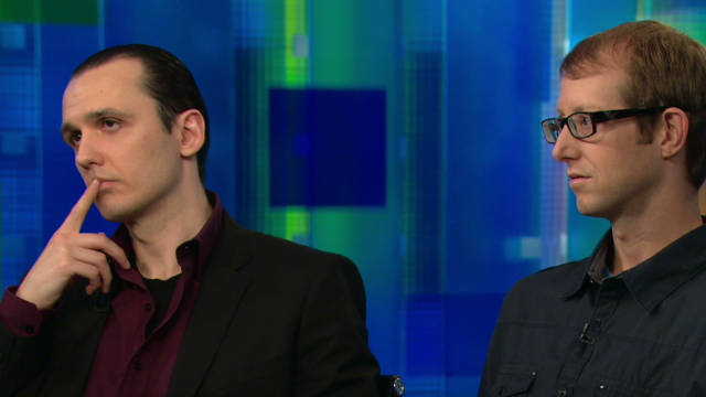 Damien Echols, left, and Jason Baldwin spent nearly 20 years in prison for a crime they say they didn't commit.