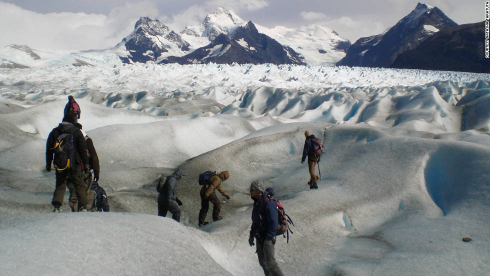 """Natasha Taratuta took this photo during a glacier hike. """"We went to the Perito Moreno Glacier and did the big ice trek, where you hike next to the glacier and then on it for about six hours. It was breathtaking."""""""
