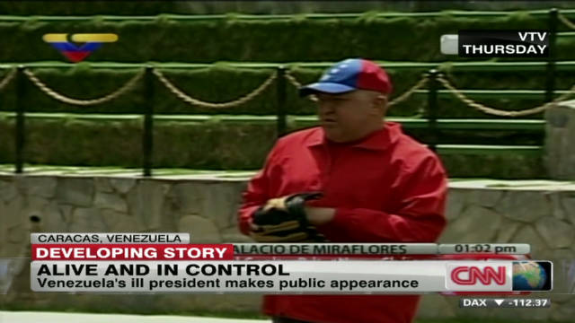 Hugo Chavez makes public appearance