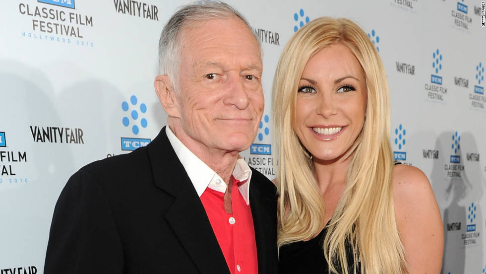 "Hugh Hefner first proposed to Crystal Harris in December 2010, but <a href=""http://marquee.blogs.cnn.com/2011/06/14/hugh-hefners-fiancee-calls-off-the-wedding/"" target=""_blank"">the couple</a> <a href=""http://marquee.blogs.cnn.com/2011/07/20/hugh-hefner-i-missed-a-bullet/"" target=""_blank"">broke up</a> <a href=""http://marquee.blogs.cnn.com/2012/06/04/hugh-hefner-and-crystal-harris-rekindle-romance/"" target=""_blank"">before they finally made it</a> down the aisle <a href=""http://marquee.blogs.cnn.com/2013/01/01/hugh-hefner-weds-ex-fiancee-crystal-harris/?iref=allsearch"" target=""_blank"">two years later. </a>"