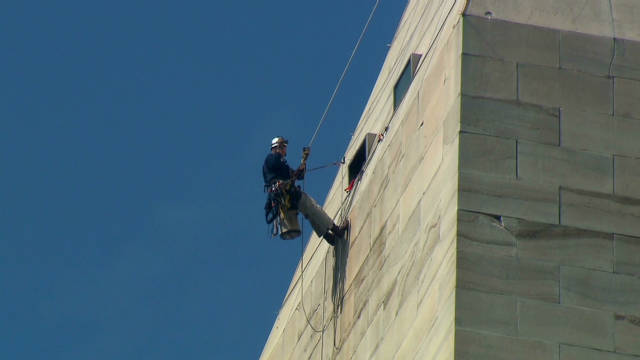Scaling down the Washington Monument