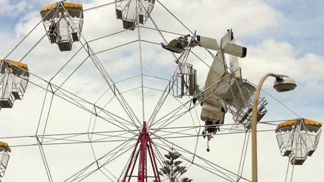 Plane into Ferris wheel