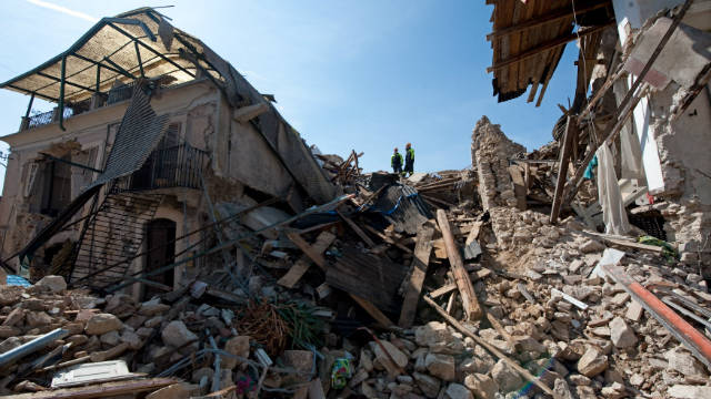The 2009 L'Aquila earthquake destroyed more than 85% of buildings in the village of Onna.