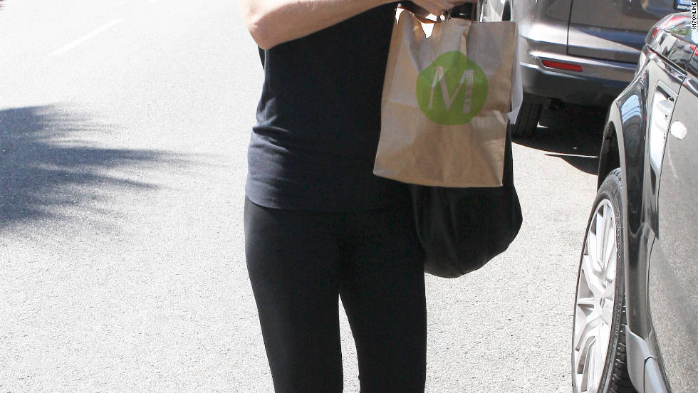 Ellen Pompeo grabs lunch in West Hollywood.