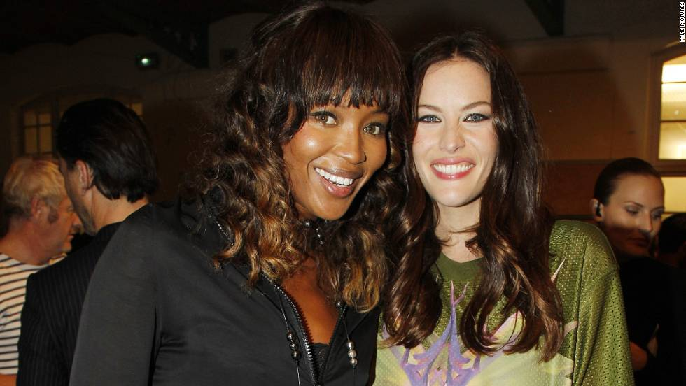 Naomi Campbell and Liv Tyler attend Paris Fashion Week.