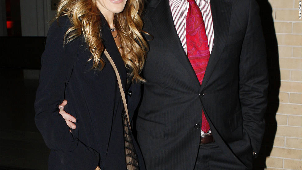 Sarah Jessica Parker and husband Matthew Broderick visit the Natural History Museum in NYC.