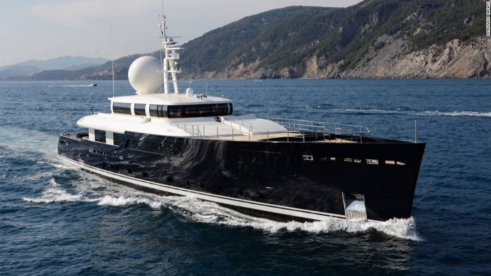 "Designed by Philippe Briand, ""Galileo G"" is a 55-meter superyacht, constructed to ice-class classification guidelines."