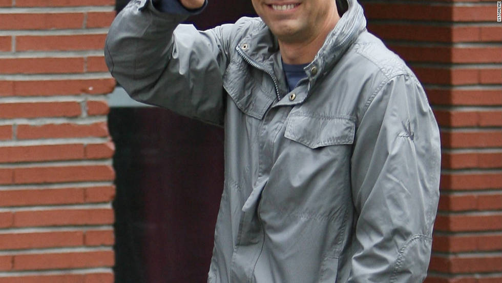 Mark Ruffalo says hello while filming his latest movie in New York City.